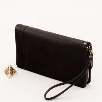 КОД : D855 Портфейл от плътна и висококачествена еко кожа в кафяв цвят