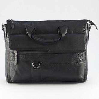 КОД : 8072 Мъжка чанта от естествена кожа в черен цвят