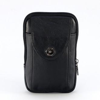 КОД : 2358 Мъжка чанта от естествена кожа в черен цвят