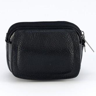 КОД : 2323 Мъжка чанта от естествена кожа в черен цвят