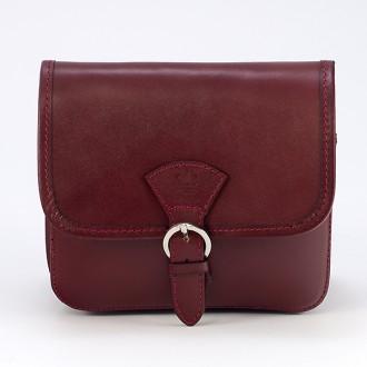 КОД : 0016 Малка дамска чанта от естествена кожа в червен цвят