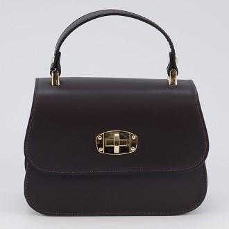 КОД : 0036 Дамска чанта от естествена кожа в кафяв цвят